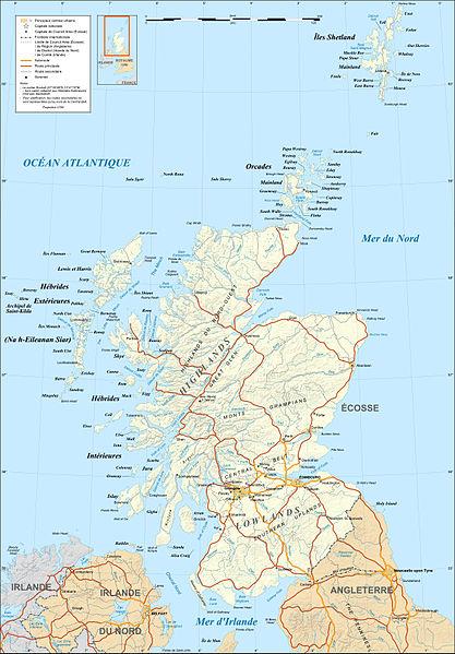 el mapa de Escocia en gran resolucion