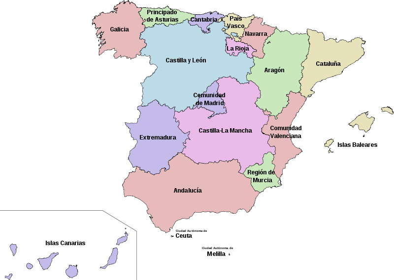 map of Spain high resolution