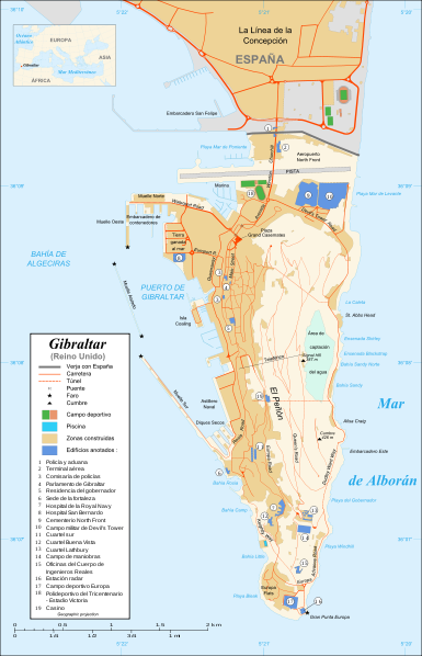 map of Gibraltar high resolution
