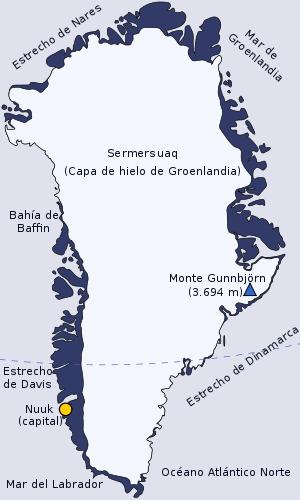 el mapa de Groenlandia en gran resolucion
