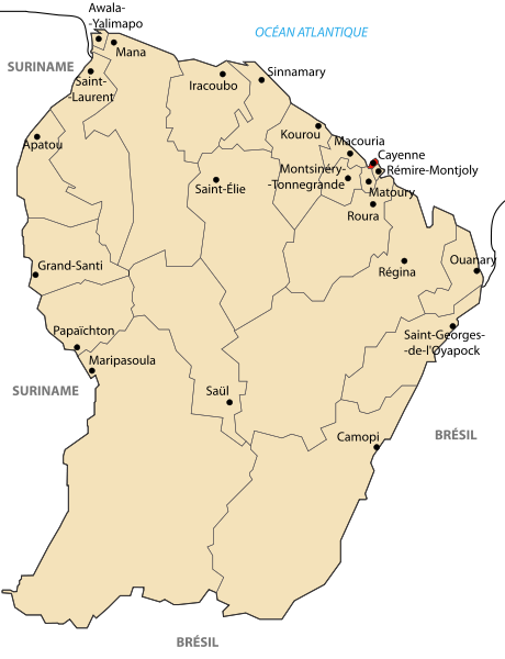 map of French Guiana high resolution