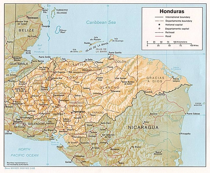 map of Honduras high resolution