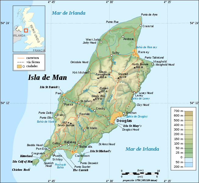 map of Isle of Man high resolution