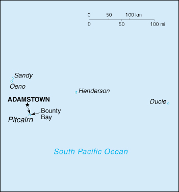 map of Pitcairn Islands high resolution