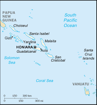 map of Solomon Islands high resolution