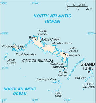 map of Turks and Caicos Islands high resolution