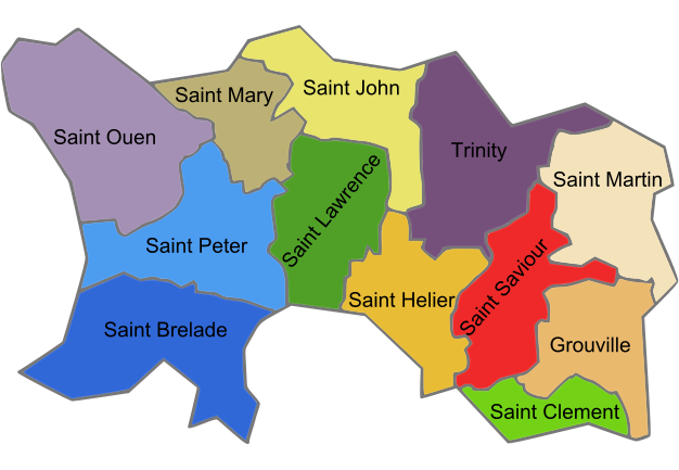 map of Jersey high resolution