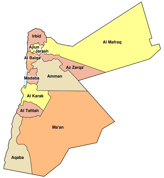 map of Jordan high resolution