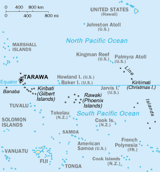 map of Kiribati high resolution