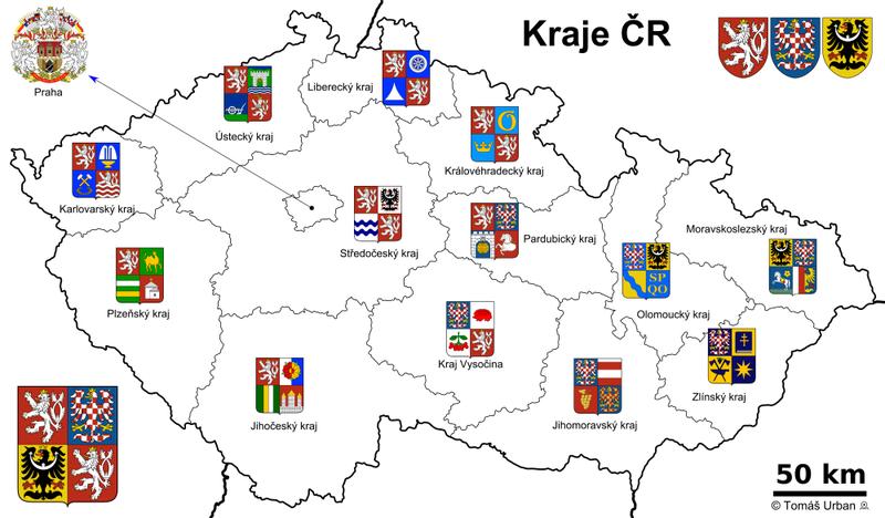 map of Czech Republic high resolution