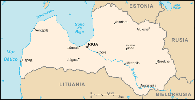 map of Latvia high resolution