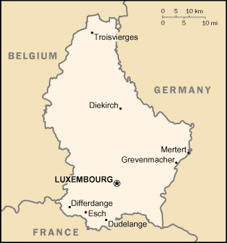 map of Luxembourg high resolution