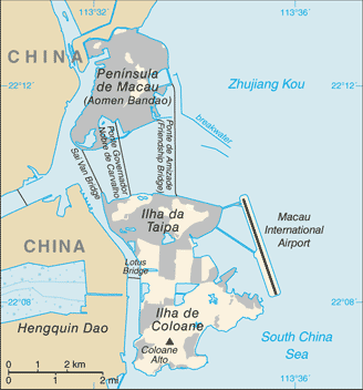 map of Macao high resolution