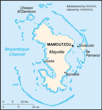 map of Mayotte high resolution
