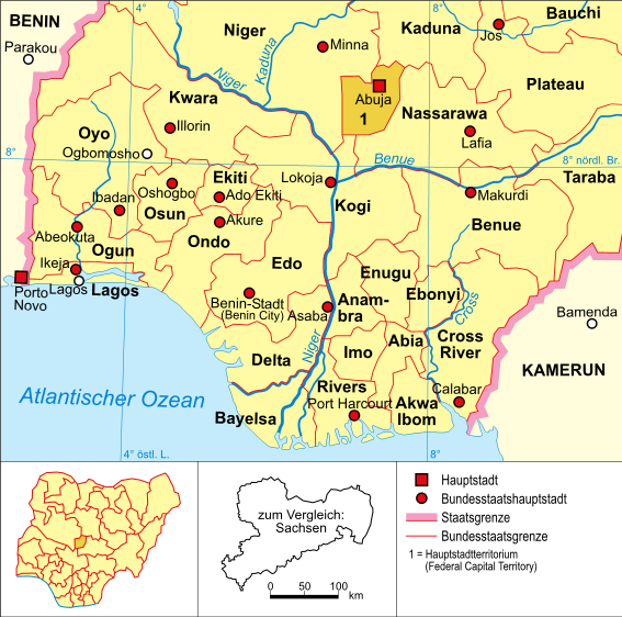map of Nigeria high resolution