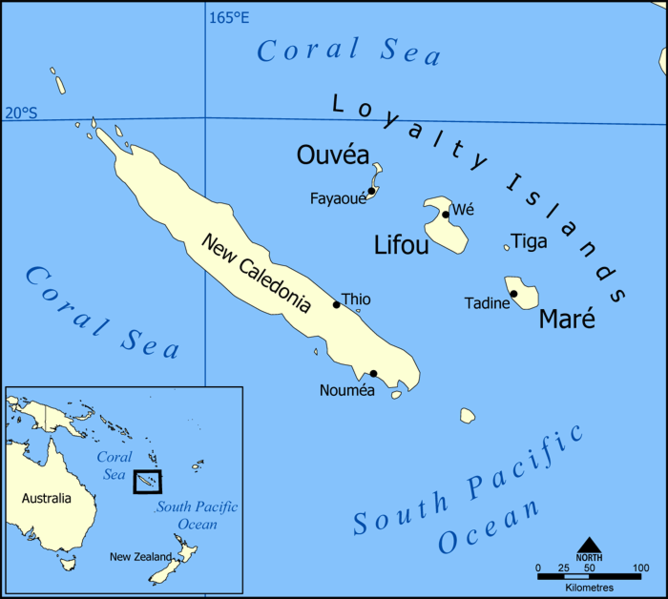 map of New Caledonia high resolution