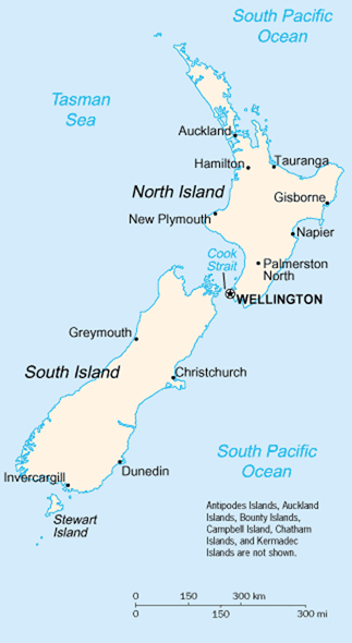 map of New Zealand high resolution