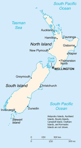 el mapa de Nueva Zelanda en gran resolucion