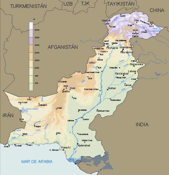 map of Pakistan high resolution