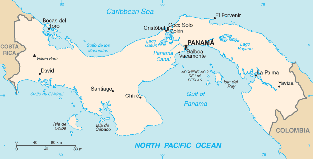 map of Panama high resolution