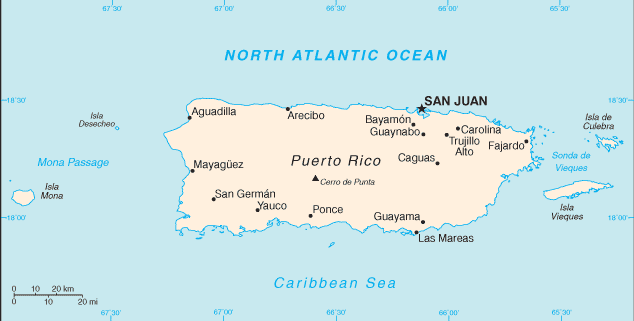 map of Puerto Rico high resolution