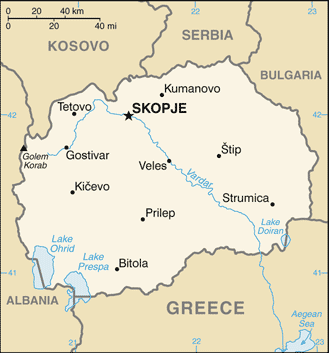 map of Republic of Macedonia high resolution