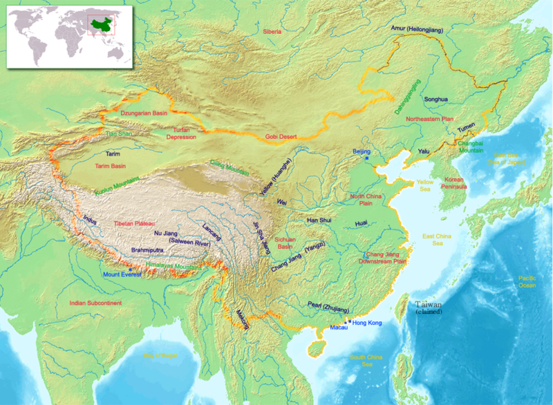 map of People's Republic of China high resolution