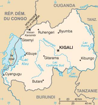 la carte de Rwanda haute résolution