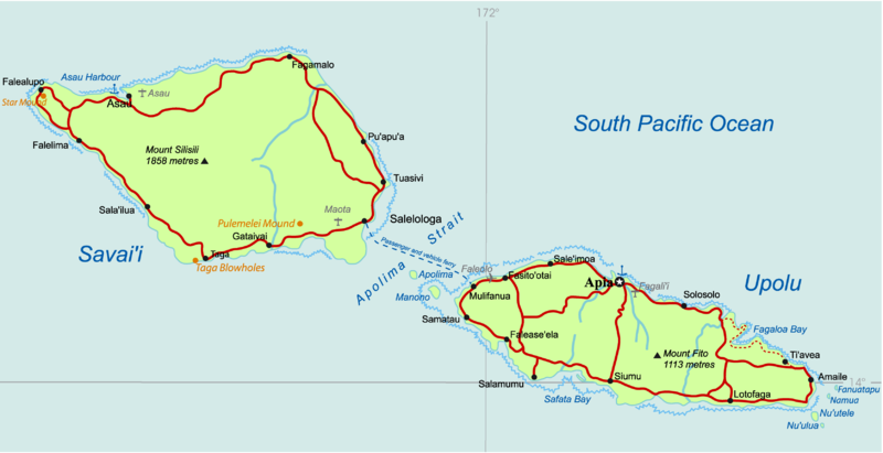 map of Samoa high resolution