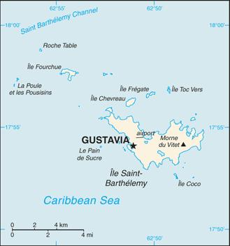 Karte von San Bartolomé (Frankreich) hohe Auflösung