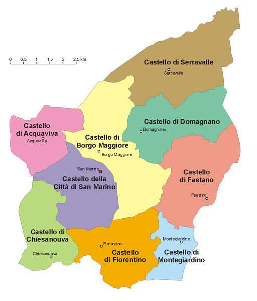 map of San Marino high resolution
