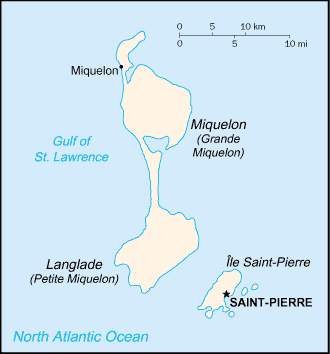 map of Saint Pierre and Miquelon high resolution