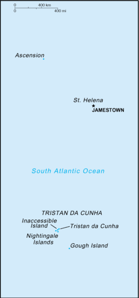 map of St. Helena, Ascension and Tristan de Acuna high resolution
