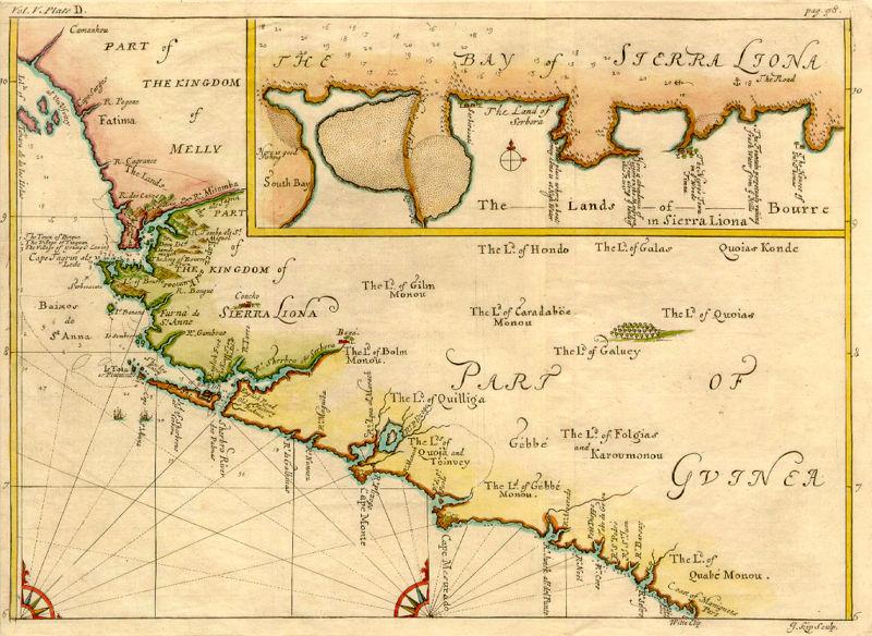 la carte de Sierra Leone haute résolution