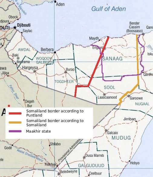 map of Somaliland high resolution