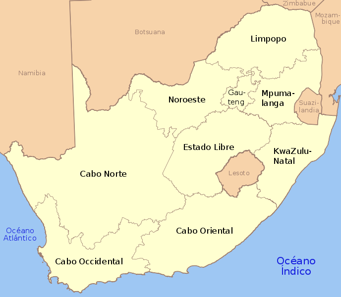 map of South Africa high resolution