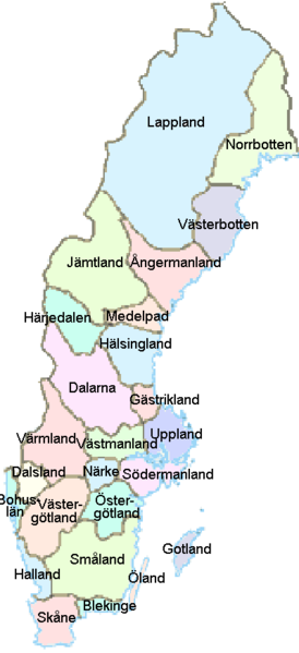map of Sweden high resolution
