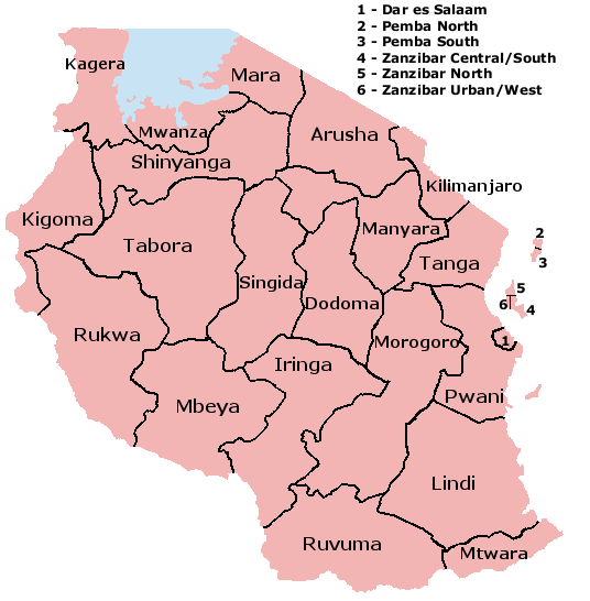 map of Tanzania high resolution