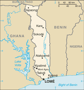 map of Togo high resolution