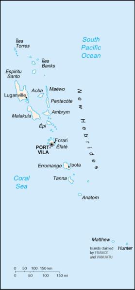 Karte von Vanuatu hohe Auflösung
