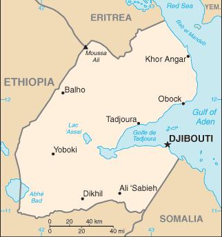 map of Djibouti high resolution