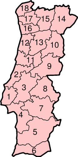 el mapa de Portugal en gran resolucion