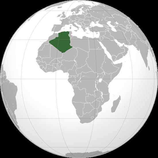 la situacion de Argelia en gran resolucion
