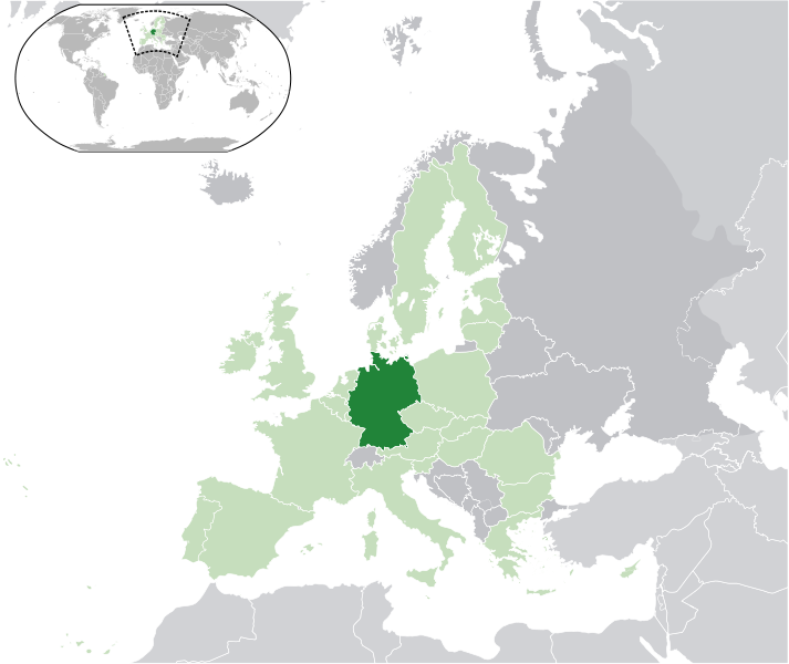 la situacion de Alemania en gran resolucion