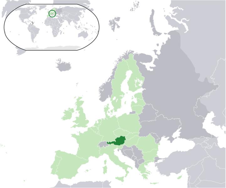 la situacion de Austria en gran resolucion