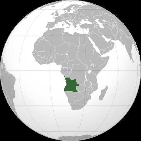 la situacion de Angola en gran resolucion