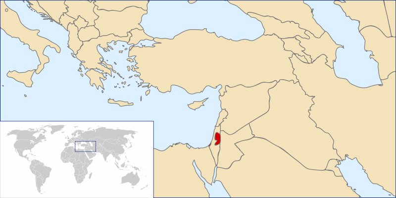 location of Palestinian National Authority high resolution