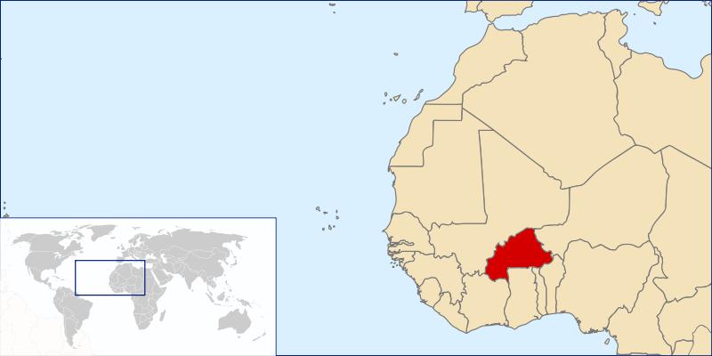 a situação dos Burkina Faso em alta resolução