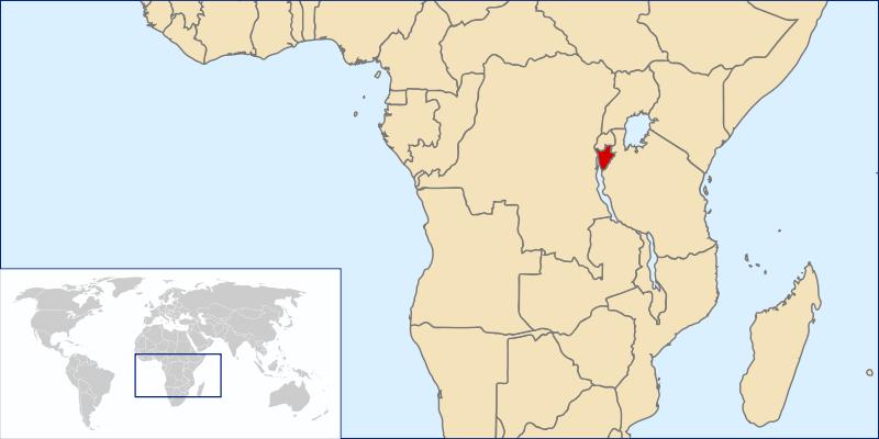 location of Burundi high resolution