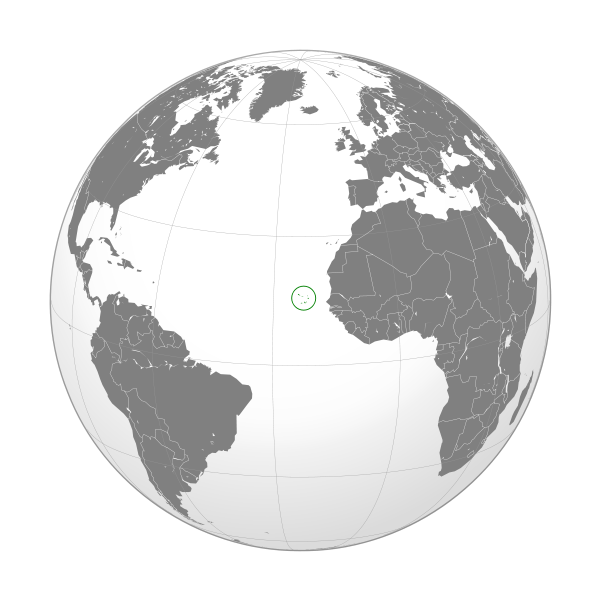 location of Cape Verde high resolution